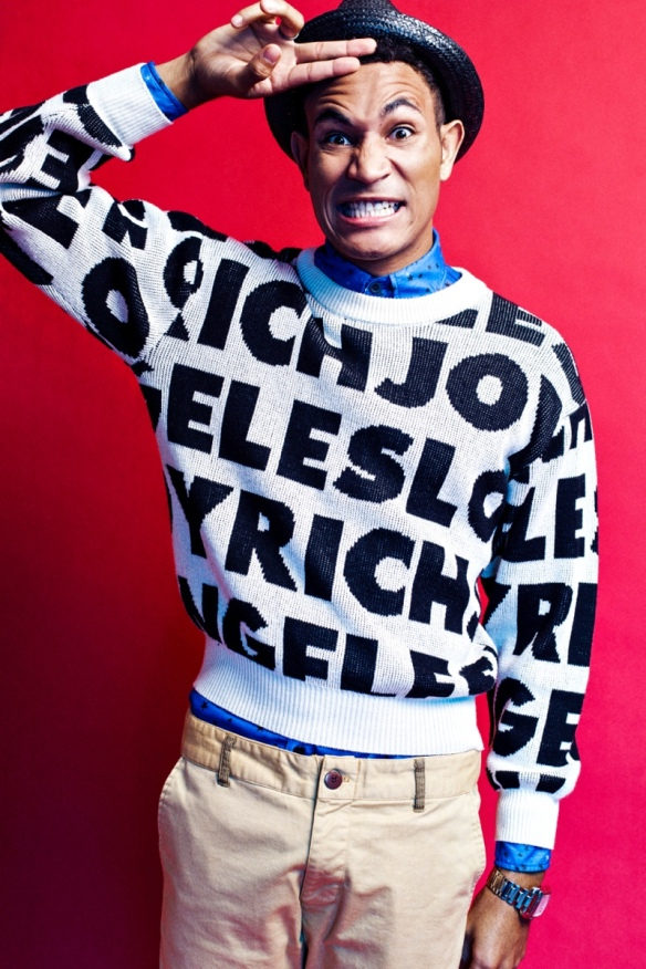 Bryce wears pullover Joyrich, button-up Paulie Gibson, pants American Apparel and fedora Urban Outfitters.