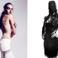 left- Pants: Genevieve Clifford, Ring: Carbon and Hyde / right- Dress: Dora Abodi, Mask: Adolfo Sanchez